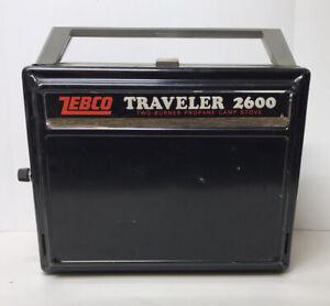 Vintage Camping Zebco Traveler 2600 Twinfold Camp Stove Two Burner VTG