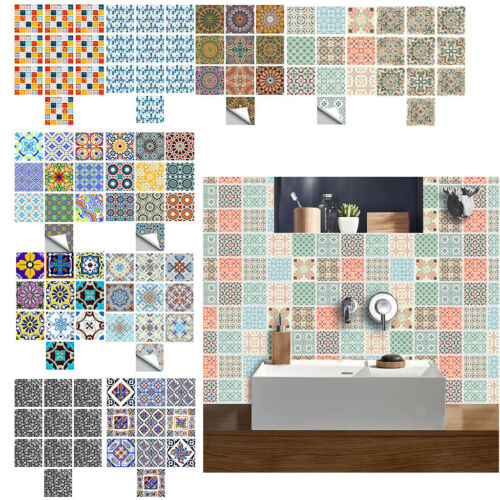Morden Style 10Pack 6x6 inch Tile Wall Stickers for Kitchen Bathroom Use