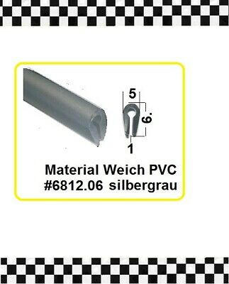 Silbergrau F € 3,95/m 1mm Gummiprofil 6812.06 Aus Berlin FleißIg 4m Kantenschutz