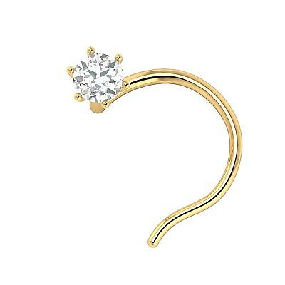 25g 14kt Natural Diamond Nose Stud In Solid Gold In All Sizes With