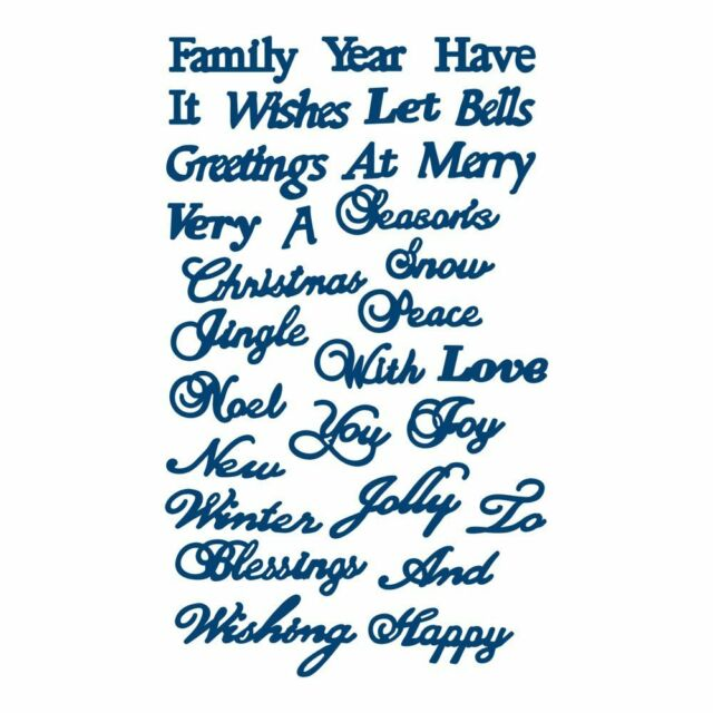 Christmas Sentiments For Cards.Retired Tattered Lace Dies Christmas Sentiments Ttld096 Words For Cards