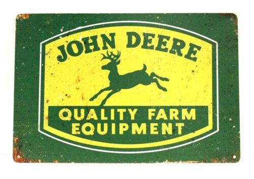 New John Deere Farm Equipment Tin Metal Sign Art Vintage Style Man Cave Tractor