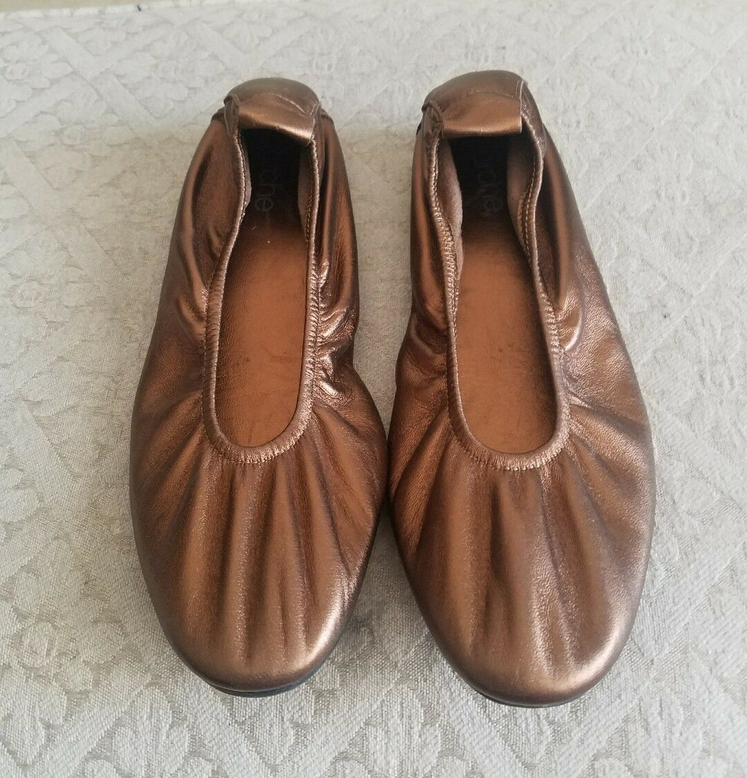 Arche LAIUS Brown Copper Metallic Ballet Flat Size EU 38, US 7.5 M NEW