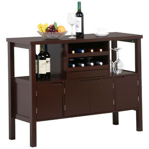 Image Is Loading Wooden Kitchen Buffet Cabinet Dining Room Sideboard Table