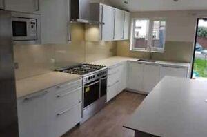 Dark Grey Quartz 6 Meter Kitchen Worktops Best Quality Brighton