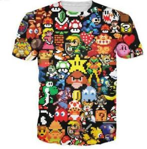 New Fashion Womens Mens Cartoon Super Mario Bros 3d Print Casual T
