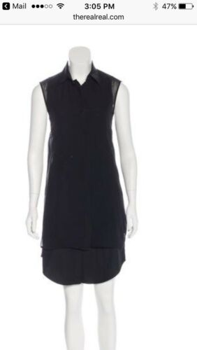 Alexander Wang Cotton-Silk  Black Shirtdress - image 1