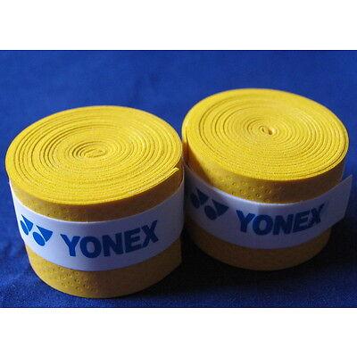 YONEX Gelb Griffbänder Tennis Neu 2 st.