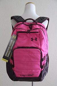 3baacd0cd8 Details about Under Armour UA Storm Camden Backpack Style # 1261826, Black  / Pink