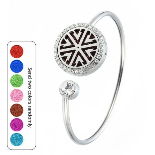 Aromathérapie parfum Bracelet Essentiel Diffuseur Médaillon Acier Inoxydable Bracelet
