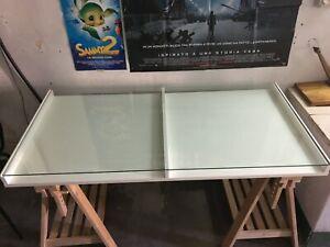 Ikea Tavoli Di Vetro.Tavolo Ikea Per Disegno Tecnico Con Ripiano In Vetro 150x75 Ebay