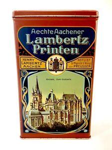 Aechte Aachener Lambertz Printen Collectible Tin Made in Western Germany