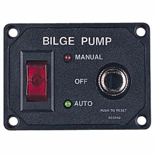 Sea Dog 423040-1 Bilge Pump Switch Panel W// Circuit Breaker