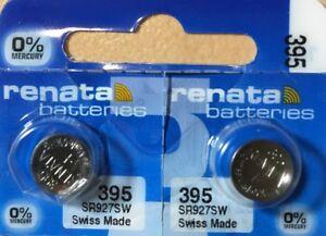 2-Renata-395-Battery-SR927SW-399-Silver-Oxide-Authorized-Seller-Exp-06-21