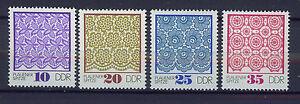 ALEMANIA-RDA-EAST-GERMANY-1974-MNH-SC-1563-66-Plauen-lace-patterns