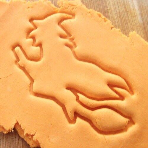 Sorcière Cookie Cutter Halloween Biscuit Pâte Pâtisserie Fondant Stencil HA01