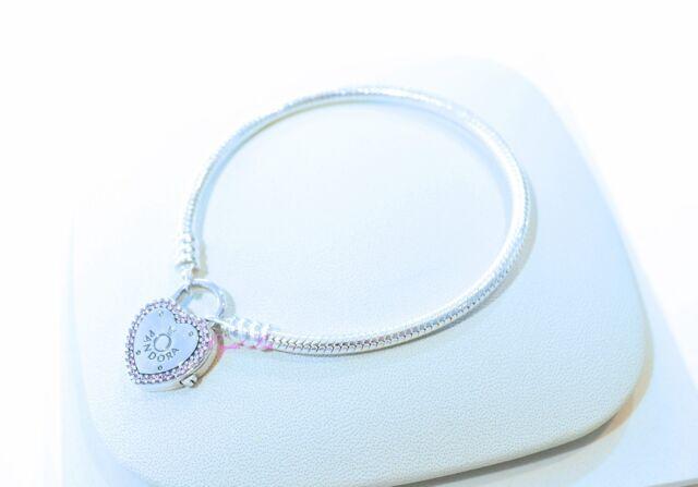 4b109b038 Authentic Pandora Lock Your Promise Silver Padlock Bracelet CZ 596586FPC-19