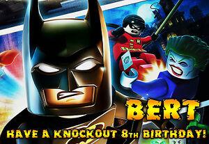 Détails Sur Batman Lego Style Superman Joyeux Anniversaire Carte De Vœux Personnalisée Art Afficher Le Titre Dorigine