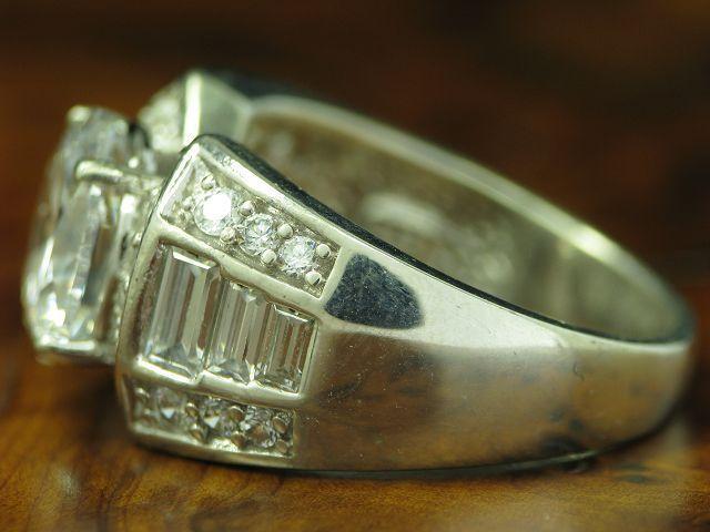 925 Sterling argentoo Anello con ZIRCONI coefficiente in puro puro puro argentoo RG 56 8 4g e22948