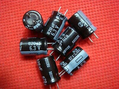 Pack of 200 Capacitors 820uF 6.3V