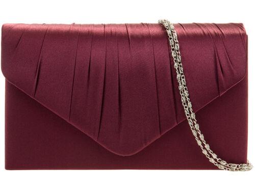 Ladies Satin Clutch Evening Bag Shoulder Bag Prom Bag