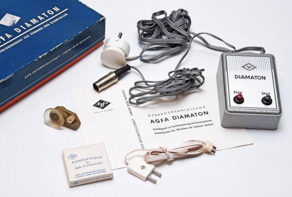 Agfa Diamaton Ca. 1960 Synchrongeräte Für Tonband Und Diawechsler Ovp Offensichtlicher Effekt