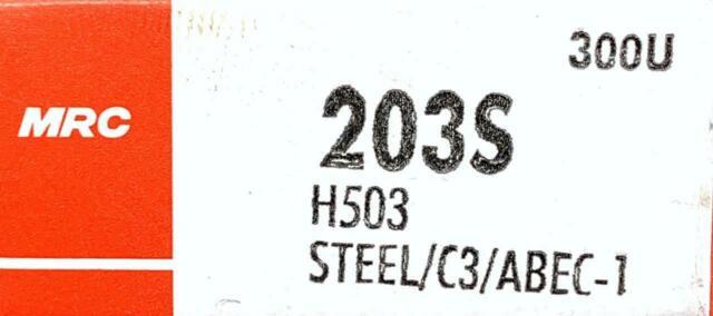 NIB MRC 203S BEARING NO SHIELDS 203 S 17x40x12 mm