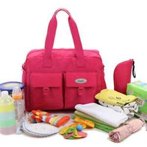 Fashion Large Mummy Bag Baby Diaper Nappy Bag Stroller with bag for Milk Bottle