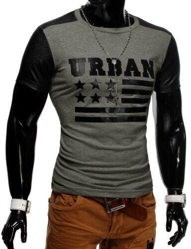 T-shirt da Uomo Unisex Polo stelle Clubwear URBAN USA flag nazione