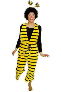 Biene Kostum Fur Damen Gelb Bienchen Hummel Bienen Latzhose Karneval