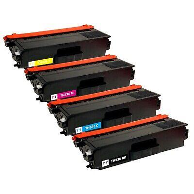 5-Pack Toner Set for TN336 Brother MFC-L8850cdw HL-L8350cdw L8600cdw L8250cdn