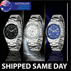 NARY-MENS-CLASSIC-WATCH-Water-Resistant-Silver-Gold-Dress-Army-Military-32