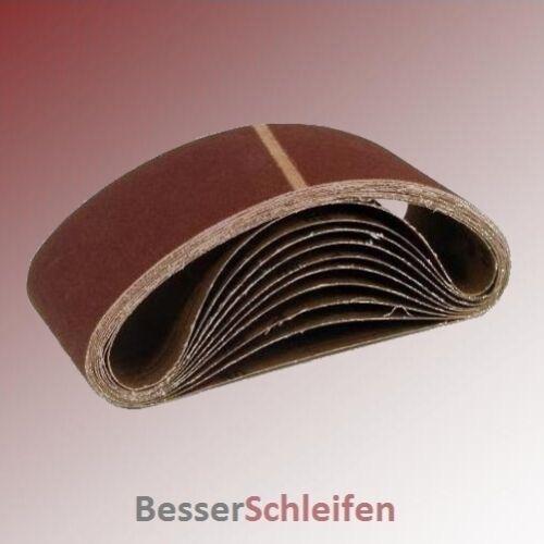 30 Schleifbänder Schleifband 100x620 mm Körnung P80 Gewebe für Bosch Metabo