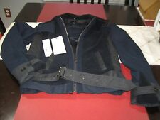 WOMENS LACOSTE WINTER COAT JACKET TOP SIZE 8 NAVY BLUE/GRAY  NWT $395