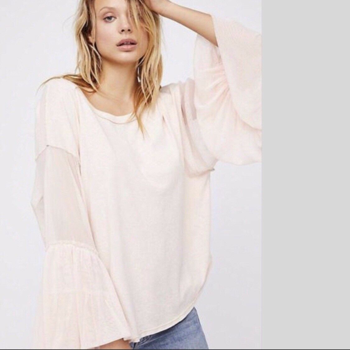 Free People We The Free Rosa Still Got It Tee Top Small S  OB675818 NWT New