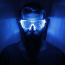 TU45 - CYBER VIZOR BRIGHT BLUE LED LIGHT GLASSES IDEAL FOR PARTY/FESTIVAL/EVENT