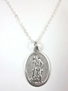 7f7cfa7eab8 St Lazarus Medal Italy Pendant Necklace 20
