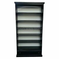 Hand Made Cambridge 5+1 Drawer Bookcase Black (assembled)