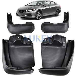 FRONT-REAR-FIT-FOR-HONDA-CIVIC-12-2013-2014-2015-MUD-FLAP-SPLASH-GUARD-MUDGUARDS