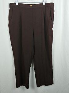 fa80d78fd7d Dress Barn Women s Stretch Waist Pants Brown Plus Size 18 37