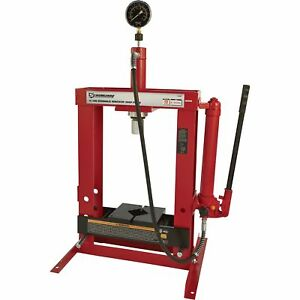Strongway-Hydraulic-Shop-Press-with-Gauge-10-Ton-Capacity