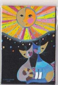 Magnet Magnetpin Katze Wachtmeister Happiness is shared
