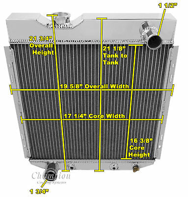 2 Row All Aluminum Alliant Radiator For 1987-06 Jeep Wrangler 4//6Cyl