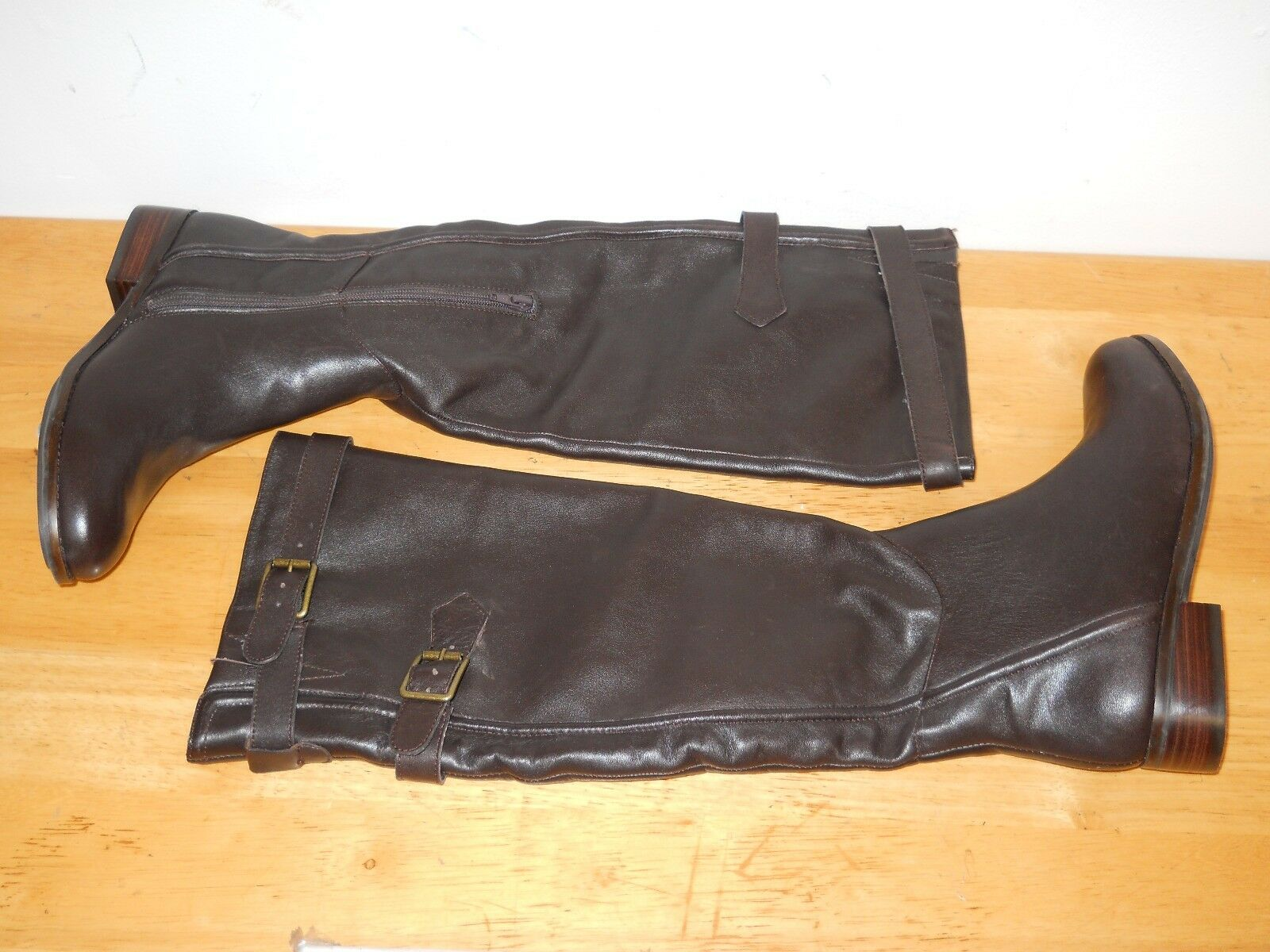 Reba New Womens Stand Dark Brown Leather Boots 6.5 M Shoes NWOB