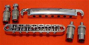 Guitar Parts 7 STRING - StopBar Tailpiece & Tune-O-Matic Bridge SET - CHROME