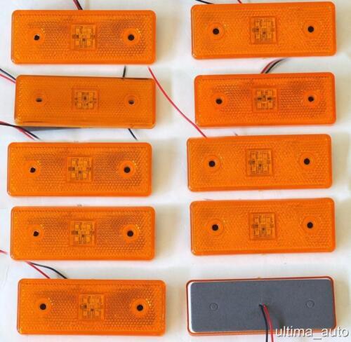 10 Stück 24v Led Orange Bernstein Gliederung der Seite Markierungsleuchte