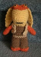 Amigurumi Hand Crocheted Star Wars Jar Jar Binks Doll 6 Doll
