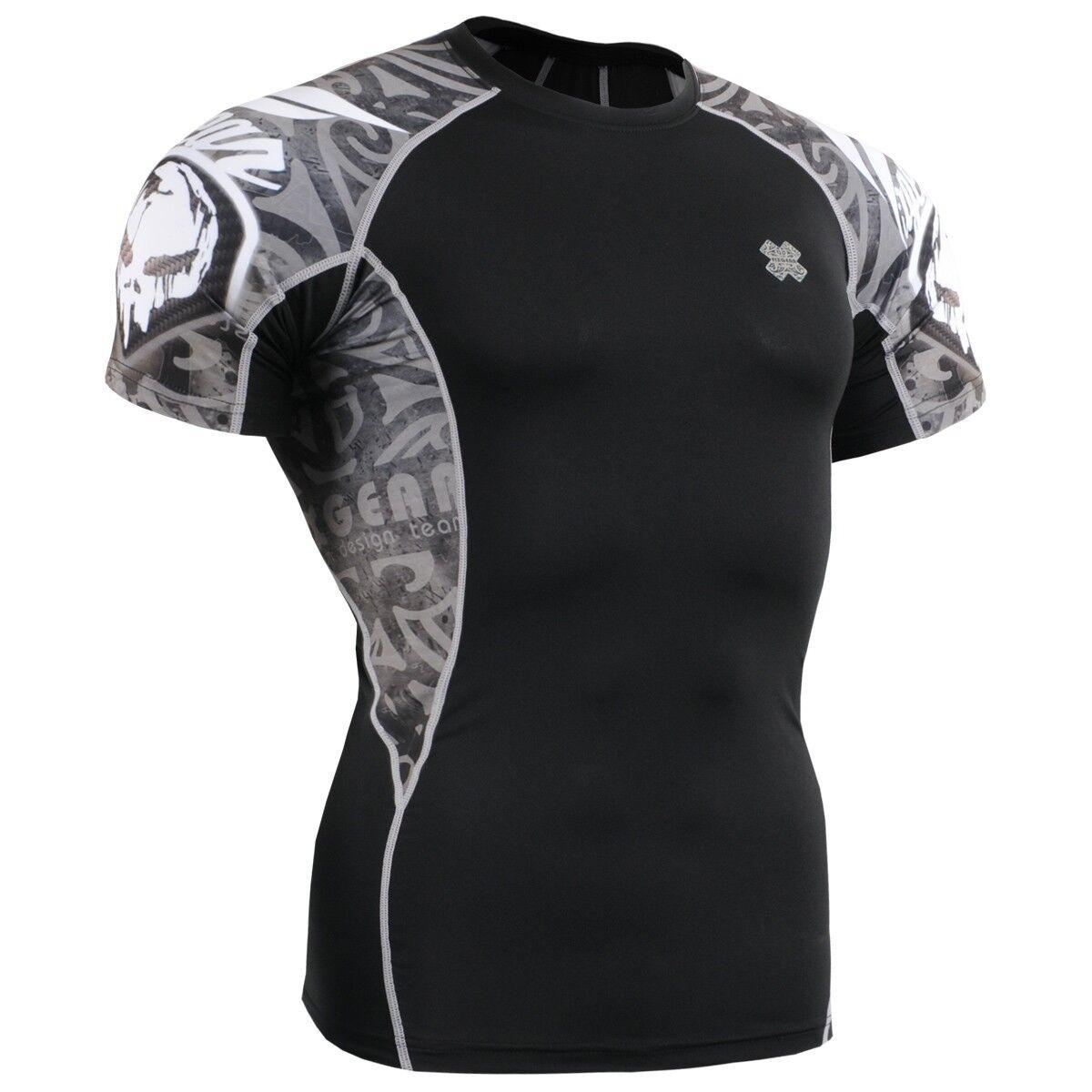 FIXGEAR C2S-B43 Compression Base Layer Workout Shirt Sportswear Gym MMA