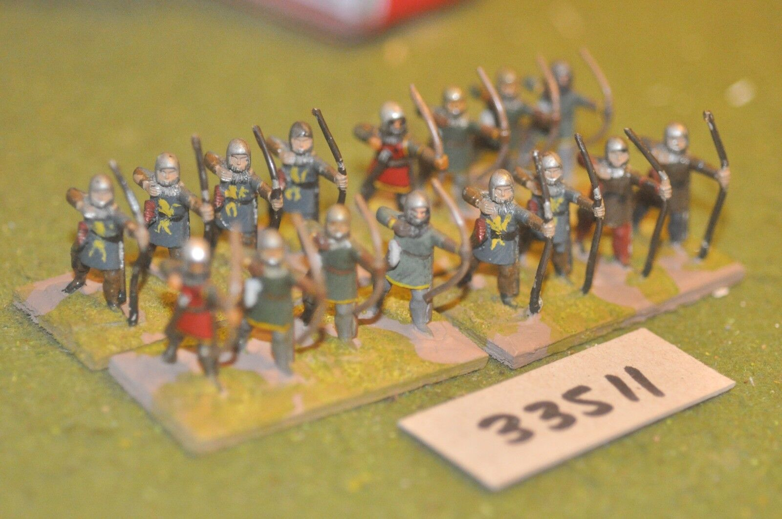 25mm medieval   english - archers 16 figures - - - inf (33511) d40a8f