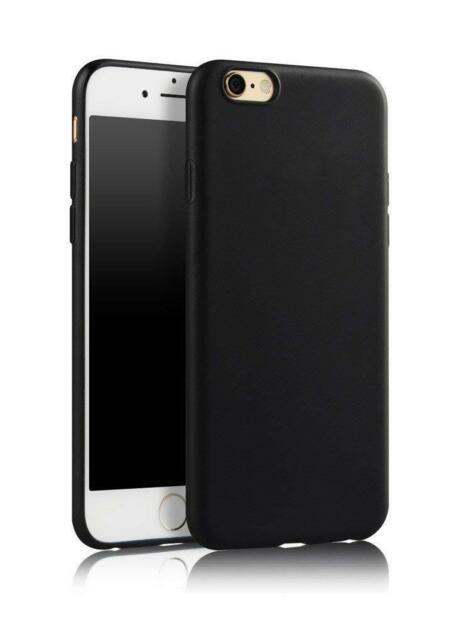 SDTEK Matte Case for iPhone 6s / 6 (Black) Soft Cover (Black)